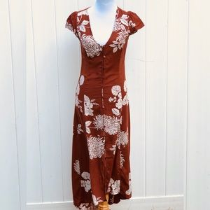 NWT! Long Cotton Dress with back tie detail
